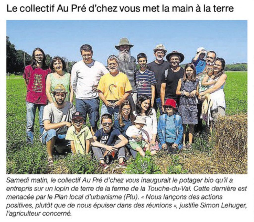 Article Ouest France du 20 juin 2017